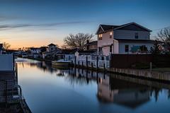 Blue Canal (Bob90901) Tags: 2016 6d april canal canon dusk evening gradnd lee lindenhurst longexposure nd neutraldensity newyork rpg90901 canonef2470mmf28liiusm vle