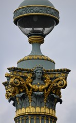 Ornate Lighting (pjpink) Tags: gold gilt ornate lamp light lighting placedelaconcorde paris france may 2016 spring pjpink