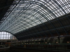 Roof (My photos live here) Tags: london england capital city st pancras international station eurostar train rail railway terminus camden urban i phone 5s