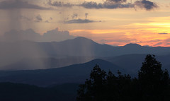 sunset showers (csnyder103) Tags: shower sunset rain sky mountains blueridge appalachians mountainlayers canoneos7dmkii canonef70200f28lis mtpisgah