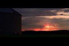 Day Three Hundred Eighteen (fotoJared) Tags: sunset silhouette nikon farm farmland heartland minnesota mn fotojared storm after summer august 239x1