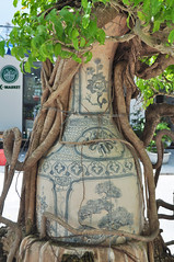 Like a relic (Roving I) Tags: decoration paintings pots pottery earthenware ceramics miniature trees mingtrees roots leaves ikebana kmarket hotels avatar tourism travel danang vietnam vertical