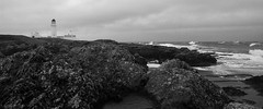 Langness (Chris Kilpatrick) Tags: chris outdoor nature blackwhite langness lighthouse coast rocks water irishsea sea seascape nokialumia1020 isleofman waves