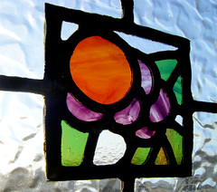 Stained Glass Fruits and Berries (RDW Glass) Tags: stainedglass glasgow rdwglass fruit berries flowers leaded light scotland red green purple