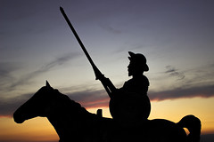Don Quijote (kaizerdar) Tags: donquijote donquixote statue lancer horse warrior dreams reality inspirational motivational silhouette sky painting hero evening sunset eskiehir turkey trkiye fiction fictional character