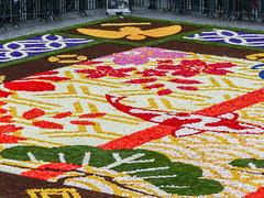 Détail de l'édition 2016 (CORMA) Tags: 2016 belgique belgium tapisdefleurs bruxelles brussels grandplace bégonia japon japan europe flowercarpet