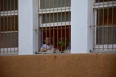 barred, but thumbs up anyway (cam17) Tags: chile valparaiso valparaisochile barred windowbars barredwindows thumbsup boybehindbars