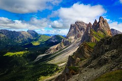Mount Seceda - Val Gardana  Dolomites Italy (Lior. L) Tags: mountsecedavalgardanadolomitesitaly mount seceda val gardana dolomites italy mountseceda valgardana dolomitesitaly mountains valley sky clouds travel nature italia alps italianalps travelinitaly landscape view scenery greatweather greatscenery