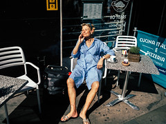 Sunbathing In Soho (maxgor.com) Tags: 17mm 35mm candid color england europe london maxgor maxgorcom olympus olympuspenf people rawstreets soho stranger street streetphotography uk  unitedkingdom gb