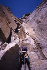 Starting the Huge Diedre (andywalker1) Tags: andrewwalker americandirect dru petitdru chamonix alps alpineclimbing