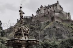DSC07674 (pbauerphotographics) Tags: edinburgh castle rocks monument water feature sculpture hdr