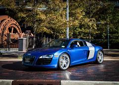 Audi R8 (Jeff_tB) Tags: audi r8 canon pa pennsylvania cars blue steelstacks lehigh lehighvalley