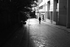 By lowering the passage (pascalcolin1) Tags: paris passage pluie rain reflection pavs homme man rue photoderue streetview urbanate noir et blanc white photopascalcolin blackandwhite paris13 noiretblanc