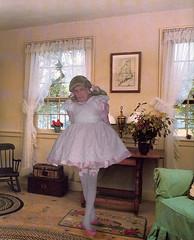 arrival (marcia2015au) Tags: tv cd crossdresser crossdressing sissy dressing cosplay petticoats littlegirl adultlittlegirl partydress partyfrock flounces frills