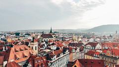 rooftops in Prague (rjdibella) Tags: fromabove skyline summer rooftops 2011 europe czechrepublic prague praha hlavníměstopraha cz