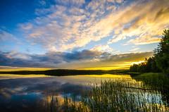 Summer evening (ArtDvU) Tags: summer evening finland lake lakescape landscape sunset clouds nikon d7000 wideangle 1020