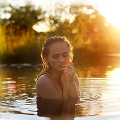 perfect day (unexpectedtales) Tags: implied nude naked lady lake girl pond water woman preraphaelite