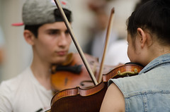 V for Violin (Altvod) Tags: people   portrait street   moscow    music musicians violin musicalinstrument   streetmusic  bow