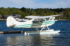 Private Aeronca 7AC Super Champ N1666E (jbp274) Tags: mooseheadlake greenville greenvilleseaplaneflyin 52b flyin airplanes seaplane floatplane aeronca champ