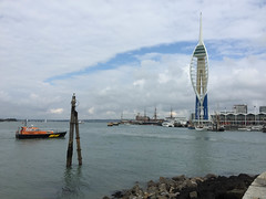 Spinnaker Tower and Pilot boat (julius_agricola35) Tags: spinnakertower pilotboat portsmouthharbour england hmswarrior
