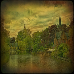 The Lake of Love... or magic entrance to Bruges. (egold.) Tags: architecture landscape belgium textures bruges hdr flanders lakeoflove alwaysexc magicunicornmasterpiece