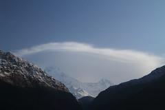 Annapurna South with Unique Cloud (tmizo) Tags: nepal cloud trekking asia himalaya 雲 pokhara annapurna ネパール トレッキング ulleri ヒマラヤ アンナプルナ skytheme annapurunasouth