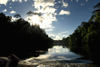 Aaron on the Rio Ampari - Amapá, Brazil