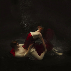 a twist of fate (brookeshaden) Tags: advertising blood darkness sexual tension vampires hbo fineartphotography underwaterphotography trueblood specshoot brookeshaden texturebylesbrumes