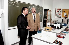 His Majesty Sultan of Brunei and Dr. Norman Ali Khalaf. Bonn, Germany. 1998 (Dr. Norman Ali Bassam Khalaf-von Jaffa) Tags: germany bonn 1998 hismajesty sultanofbrunei hassanalbolkiah drnormanalikhalaf kingfahdacademy