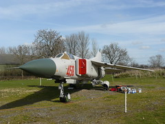 Mikoyan-Gurevich MiG-23ML - 2 (NickJ 1972) Tags: red museum aviation air newark gurevich mikoyan mig23 458 newarkairmuseum