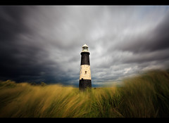 Alone in the Storm (Steve-P2010) Tags: longexposure cloud lighthouse white storm motion black building green grass canon point coast yorkshire victorian windy stormy coastal le 5d daytime waving solitary flaking 1740 eastyorkshire spurn spurnhead steveprice impressedbeauty eastridings bricklighthouse arethesebuildings blinkagain