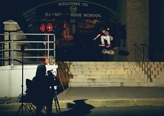Midnight Mission (Winglemire) Tags: night outside outdoors nikon stair skateboarding flash 7 skate midnight mission heel 1855mm nikkor strobe nollie d90 killinit