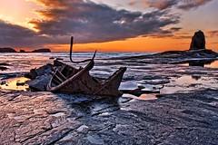 Saltwick Sunset (metrisk) Tags: uk sunset seascape beach landscape bay shipwreck northyorkmoors wreck hdr northyorkshire saltwickbay saltwick saltwicknab blacknab admiralvontromp