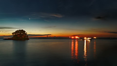 #850C6003- Dusk time in Melawai (crimsonbelt) Tags: longexposure sunset beach reflections dusk balikpapan melawai