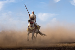 Fantasia Rider (aminefassi) Tags: world life africa travel light shadow portrait sky people horse cloud motion sahara nature animal cheval lumix movement sand scenery flickr act