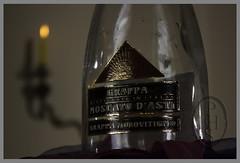 Grappa di Moscato d'Asti (102) (PHH Sykes) Tags: bottle candle cork alcohol di grappa moscato dasti monovitigno