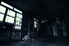 """ SOON WE'LL BE ALL ALONE "" (NOCHI SARDEA) Tags: old blue roof light red portrait house selfportrait motion blur abandoned face dark dead nikon alone decay room alien dream surreal wideangle tokina1224 eerie tokina horror noface conceptual cinematic demolished hdr hdri chasing 1224 fetal fetalposition urbex nochi d90 silhuoette pseudohdr photocrappy scheme53 nochiphotocrappy nochi2009 nochisardea twigsandclouds soonwellbeallalone"