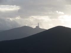 Buzludzha monument, from Shipka pass (rh1192) Tags: monument communist communism bulgaria range shipka balkan bulgarie denkmal stara bulgarien  planina   buzludzha  buzludja