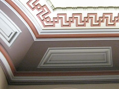 Detail of a Ceiling in the Ballarat Mechanics' Institute - Sturt Street, Ballarat (raaen99) Tags: city roof detail building green heritage wall century leaf education pattern panel library cream australia victoria plaster ceiling institute national victoriana trust civic classical chinoiserie 1850s moulding ballarat 19th goldrush listed ornamentation nineteenth 1859 edging countryvictoria mechanicsinstitute freelibrary adulteducation sturtstreet heritageweekend sturtst russett plastermoulding moulure goldrushera greekkeypattern provincialvictoria ballaratmechanicsinstitute educationalestablishment chinoiseriestyle ballaratheritageweekend arcitrave technicalinstitution landmarkbuildingarchitecture historyhistoricaldecoration1860s1870s