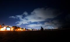 beach lights ([s e l v i n]) Tags: light india beach clouds sand dusk monsoon bombay mumbai versova versovabeach beachlights travellingclouds mumbaibeach ©selvin