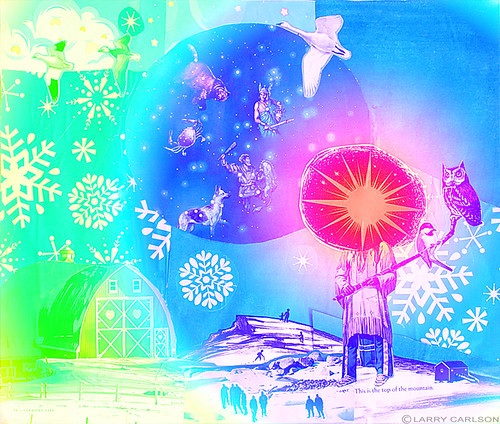 LARRY CARLSON, This is the Top of the Mountain - Color Remix, digital chromogenic print, 26x22in., 2004.