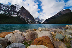 "Lake Louise (le cabri) Tags: flowers blue wild canada green water landscape rockies rocks day cloudy glacier alberta banff park"" ""lake ""national ""martin photo"" ""canadian rockies"" louise"" ""cabri cauchon""mountains"