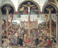 Giovanni Donato Montorlano - Crucifixion (Crocifissione), 1495 at Chiese di Santa Maria delle Grazie - Milan Italy (mbell1975) Tags: milan lombardia italy giovanni donato montorlano crucifixion crocifissione 1495 chiese di santa maria delle grazie mailand milano italia europe eu unesco world heritage site whs church kirke kirche chapel kapelle holy mary grace glise de chiesa basilica basilika refectory dining room rater house refettorio the last supper leonardo da vinci mural painting italian fresco masters grand christ unescp worldheritagesite