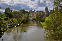 Warwick Castle & The River Avon (Explored!) (JRT ) Tags: bridge trees windows sky people castle water grass gardens clouds reflections boat nikon bricks shed ducks medieval viewpoint warwick turrets warwickshire warwickcastle riveravon d300s johnwarwood