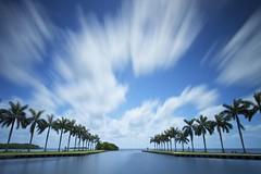 How Time Flies (ernogy) Tags: longexposure seascape clouds landscape vanishingpoint movement florida miami atlantic palmtrees atlanticocean deeringestate ernogy