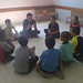 Al mawasy - Children listening to one of the project youth activists