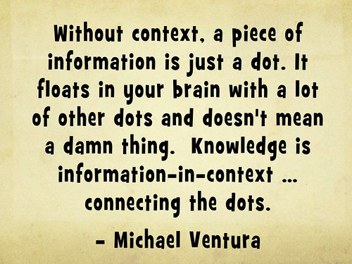 Knowledge is information-in-context -- c by planeta, on Flickr