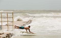 Surf's Up (Matt Currier Photography) Tags: storm canon jump surf waves florida surfer windy surfing surfboard tropical 5d fl debbie debby bradenton mark3 70200l 5d3