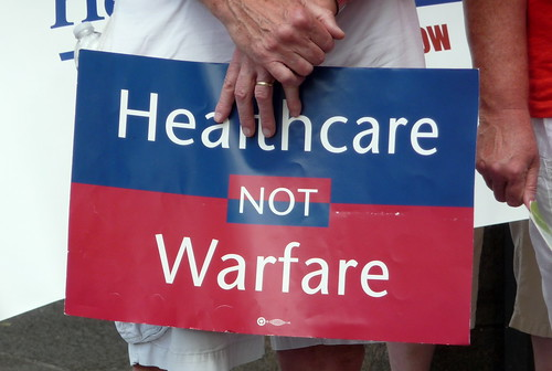 From flickr.com: Healthcare Not Warfare {MID-69949}