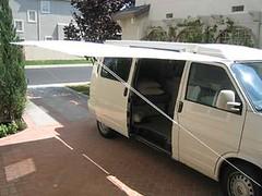 Shady Boy Awning Installed on a VW Eurovan